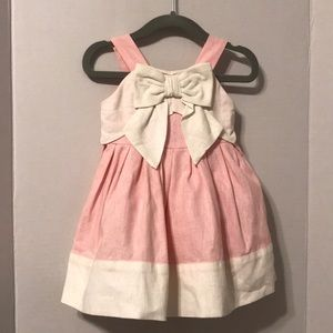 Gymboree pink linen Dress